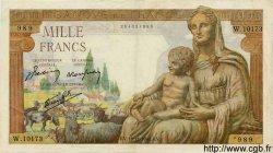 1000 Francs DÉESSE DÉMÉTER FRANCE  1943 F.40.40 TTB+ à SUP