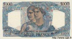 1000 Francs MINERVE ET HERCULE FRANCE  1945 F.41.08 SPL+