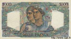 1000 Francs MINERVE ET HERCULE FRANCE  1949 F.41.29 TTB