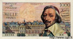 1000 Francs RICHELIEU FRANCE  1953 F.42.02 TB à TTB