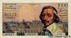 1000 Francs RICHELIEU FRANCE  1953 F.42.03 TTB