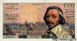 1000 Francs RICHELIEU FRANCE  1954 F.42.04 SUP
