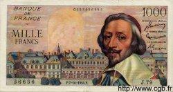 1000 Francs RICHELIEU FRANCE  1954 F.42.08 TTB+