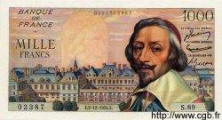 1000 Francs RICHELIEU FRANCE  1954 F.42.09 pr.NEUF