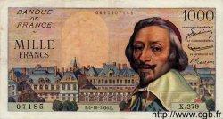 1000 Francs RICHELIEU FRANCE  1956 F.42.22 SUP