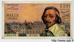 1000 Francs RICHELIEU FRANCE  1957 F.42.26 pr.SUP