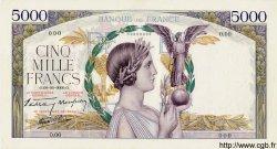 5000 Francs Victoire taille douce modifié FRANCE  1934 F.45.00 pr.NEUF
