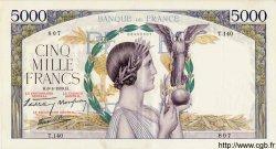 5000 Francs VICTOIRE Impression à plat FRANCE  1939 F.46.04 SUP