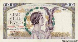 5000 Francs VICTOIRE Impression à plat FRANCE  1939 F.46.05 TTB+
