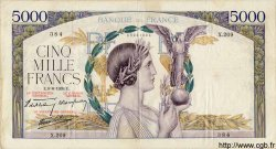 5000 Francs VICTOIRE Impression à plat FRANCE  1939 F.46.07 TB à TTB
