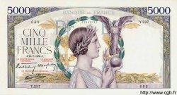 5000 Francs VICTOIRE Impression à plat FRANCE  1939 F.46.08 pr.SPL