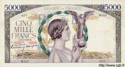 5000 Francs VICTOIRE Impression à plat FRANCE  1939 F.46.11 TTB+