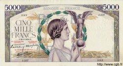 5000 Francs VICTOIRE Impression à plat FRANCE  1939 F.46.12 pr.SUP