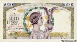 5000 Francs VICTOIRE Impression à plat FRANCE  1941 F.46.22 pr.SUP