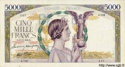 5000 Francs VICTOIRE Impression à plat FRANCE  1941 F.46.29 pr.SUP