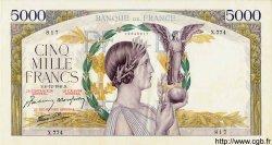 5000 Francs VICTOIRE Impression à plat FRANCE  1941 F.46.30 SUP+