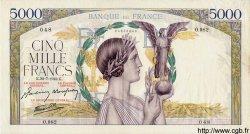 5000 Francs VICTOIRE Impression à plat FRANCE  1942 F.46.39 pr.SUP