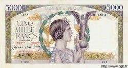 5000 Francs VICTOIRE Impression à plat FRANCE  1942 F.46.40 pr.SUP