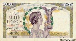 5000 Francs VICTOIRE Impression à plat FRANCE  1942 F.46.44 TTB+