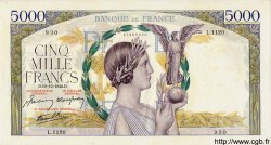 5000 Francs VICTOIRE Impression à plat FRANCE  1942 F.46.45 pr.SUP