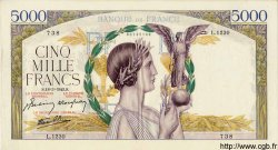 5000 Francs VICTOIRE Impression à plat FRANCE  1943 F.46.49 pr.SUP