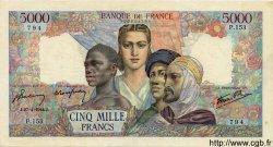 5000 Francs EMPIRE FRANCAIS FRANCE  1944 F.47.07 pr.SUP