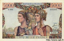 5000 Francs TERRE ET MER FRANCE  1949 F.48.00 TTB+