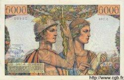 5000 Francs TERRE ET MER FRANCE  1953 F.48.10 pr.SPL