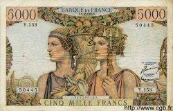 5000 Francs TERRE ET MER FRANCE  1956 F.48.12 TB+