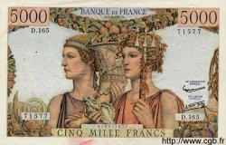 5000 Francs TERRE ET MER FRANCE  1957 F.48.15 TTB