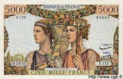 5000 Francs TERRE ET MER FRANCE  1957 F.48.16 SUP