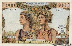 5000 Francs TERRE ET MER FRANCE  1957 F.48.17 TTB