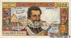 5000 Francs HENRI IV FRANCE  1958 F.49.06 TTB+