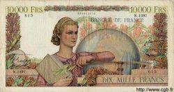 10000 Francs GÉNIE FRANÇAIS FRANCE  1951 F.50.52 pr.TB