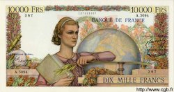 10000 Francs GÉNIE FRANÇAIS FRANCE  1953 F.50.66 SPL