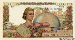10000 Francs GÉNIE FRANÇAIS FRANCE  1954 F.50.69 TTB+
