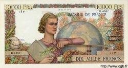 10000 Francs GÉNIE FRANÇAIS FRANCE  1954 F.50.70 SPL