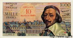 10 NF sur 1000 Francs RICHELIEU FRANCE  1957 F.53.01 SUP+ à SPL