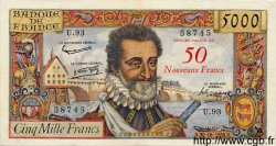 50 NF sur 5000 Francs HENRI IV FRANCE  1958 F.54.01 pr.SUP
