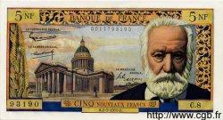 5 Nouveaux Francs VICTOR HUGO FRANCE  1959 F.56.02 pr.SPL