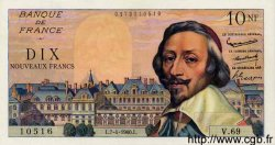 10 Nouveaux Francs RICHELIEU FRANCE  1960 F.57.06 pr.SPL