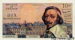 10 Nouveaux Francs RICHELIEU FRANCE  1960 F.57.08 SUP+ à SPL