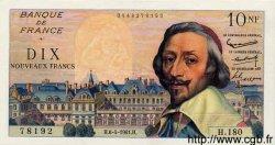 10 Nouveaux Francs RICHELIEU FRANCE  1961 F.57.15 SUP