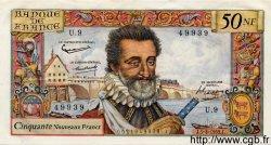 50 Nouveaux Francs HENRI IV FRANCE  1959 F.58.01 SUP