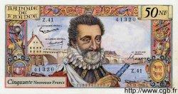 50 Nouveaux Francs HENRI IV FRANCE  1959 F.58.04 SUP