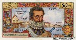 50 Nouveaux Francs HENRI IV FRANCE  1960 F.58.05 pr.SPL