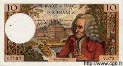 10 Francs VOLTAIRE FRANCE  1967 F.62.30 TTB+