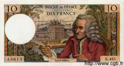 10 Francs VOLTAIRE FRANCE  1969 F.62.37 SPL