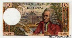 10 Francs VOLTAIRE FRANCE  1973 F.62.65 SPL