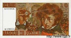 10 Francs BERLIOZ FRANCE  1975 F.63.10 SUP